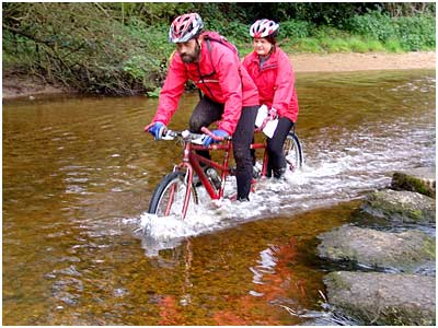Tandem goes for a splash!